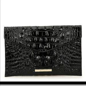 Brahmin  Melbourne Black La Scala Leather Envelope